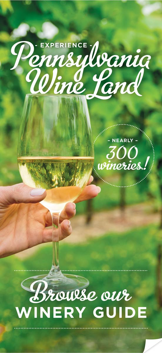 Pennsylvania Wines + Winery Guide with foldout